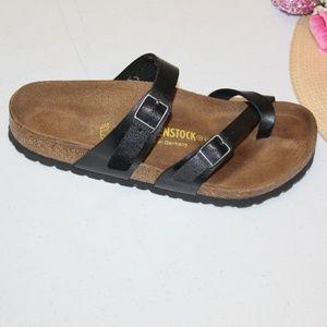 Birkenstock 37 Black Leather Sandals Germany